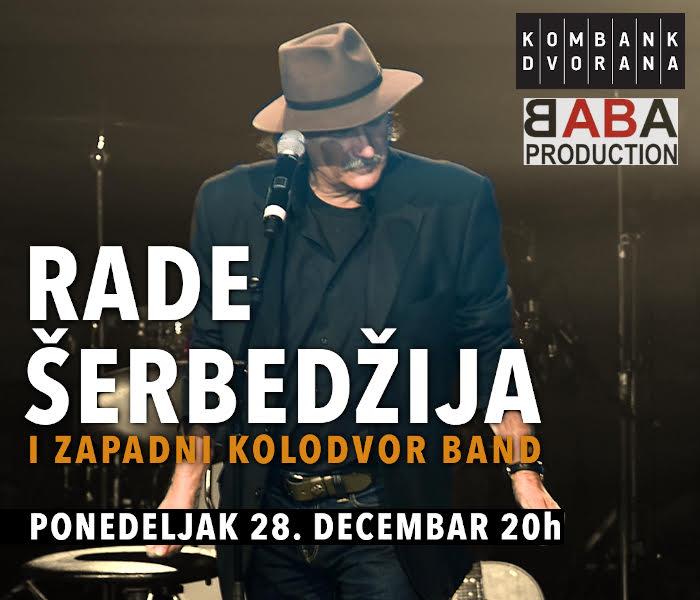 Rade Šerbedžija i Zapadni kolodvor band - ODLOŽENO